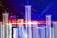 Chemistry Research Abstract Background - Illustration Royalty Free Stock Photos
