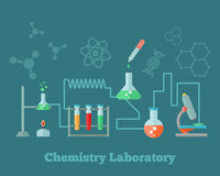 Chemistry research concept Stock Image