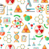 Chemistry research seamless pattern Stock Images