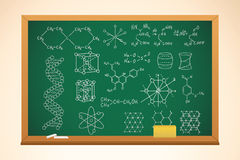 Chemistry school background Stock Images