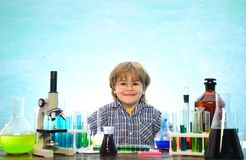 Chemistry The Science Classroom. Junior year chemistry. Experiment. Kid from primary school. First school day. Chemistry