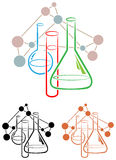 Chemistry science. Clip isolated line illustration Stock Photos