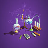 Chemistry science concept Royalty Free Stock Photo
