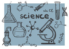 Chemistry and science concepts set Royalty Free Stock Photos