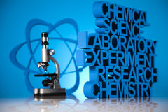 Chemistry science formula, Laboratory Stock Image