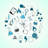 Chemistry, science icons Stock Image