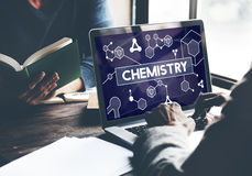 Chemistry Science Research Subject Education Concept. People Studying Chemistry Science Research Subject Education Royalty Free Stock Photo