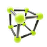 Chemistry and science symbol isolated. Chemistry and science symbol as atomic structure isolated on white Royalty Free Stock Photography