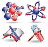 Chemistry science web icon Royalty Free Stock Photo