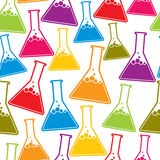 Chemistry seamless background. Royalty Free Stock Photography