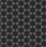 Chemistry seamless pattern, hexagonal design molecule structure on black, scientific or medical DNA research. Medicine Stock Image