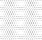 Chemistry seamless pattern, hexagonal design vector illustration Royalty Free Stock Photos