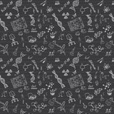 Chemistry seamless pattern with sketch elements Hand Drawn Doodles background Vector Illustration Royalty Free Stock Photography