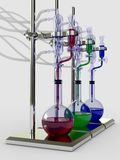 Chemistry set. On the white background Royalty Free Stock Photo