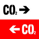 Chemistry sign. CO2 carbon dioxide icon Stock Images