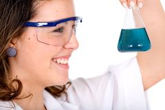Chemistry student smiling Royalty Free Stock Photo