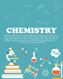Chemistry study. Education and science layout concepts. Flat modern style. vector illustration