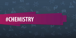 Chemistry subject. Back to School background. Education banner. Royalty Free Stock Photos
