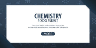Chemistry subject. Back to School background. Education banner. Chemistry subject. Back to School background. Education banner Royalty Free Stock Photos