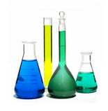Chemistry supplies. Collection of Laboratory Equipment including beakers and flasks Royalty Free Stock Images