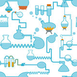 Chemistry symbol seamless Royalty Free Stock Image