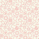 Chemistry symbol seamless pattern Royalty Free Stock Images
