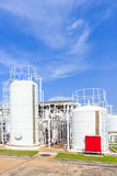 Chemistry tank in factory with blue sky Stock Image