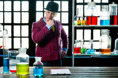 Chemistry teacher Stock Image