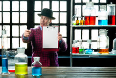 Chemistry teacher Stock Images
