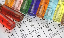 Chemistry. Test tube series royalty free stock photo