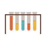 Chemistry test tubes. Test tubes chemistry flask bottles icon over white background. colorful design. vector illustration Stock Image
