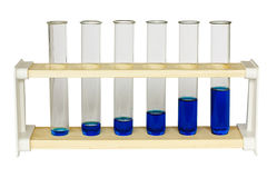 Chemistry test tubes growth graph Stock Photo