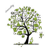 Chemistry tree concept for your design Stock Image
