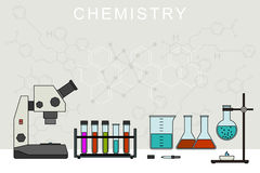 Chemistry vector banner. Royalty Free Stock Photography