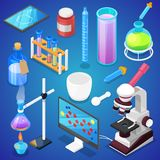 Chemistry vector chemical science or pharmacy research in laboratory for technology or experiment in laboratory vector illustration