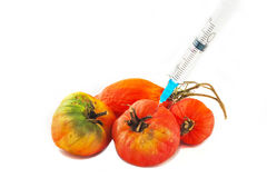 Chemistry and vegetables Royalty Free Stock Images