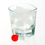 Chemistry water molecule and glass Royalty Free Stock Photography