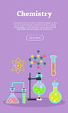 Chemistry Web Banner. Website template. vector illustration
