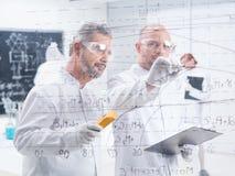 Chemistrylaboratory-Grafiken Stockfoto