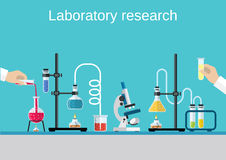 Chemists scientists equipment. Stock Photography