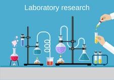 Chemists scientists equipment. Stock Image