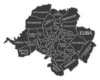 Chemnitz city map Germany DE labelled black illustration. Chemnitz city map Germany DE labelled black Stock Photo