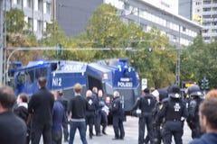 Chemnitz, Duitsland - September 01, 2018: Afddemonstratie Trauermarsch Stock Afbeelding