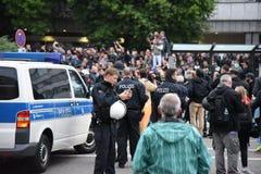 Chemnitz, Duitsland - September 01, 2018: Afddemonstratie Trauermarsch Royalty-vrije Stock Afbeelding