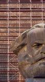 Chemnitz Karl Marx monument huvud Kerbel Arkivbild