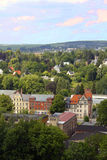 Chemnitz miasta Saxony widoku krajobrazu grodzka natura Zdjęcie Royalty Free