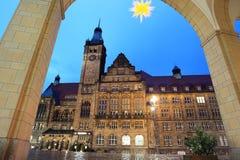Chemnitz at sunset Stock Photo