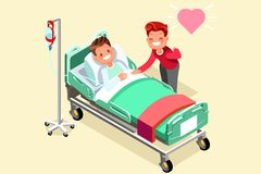 IV stand and Isometric People Vector Royalty Free Stock Photo