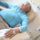 Chemotherapy patient Royalty Free Stock Image