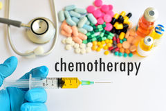 Chemotherapy. Syringe with drugs for chemotherapy Royalty Free Stock Images